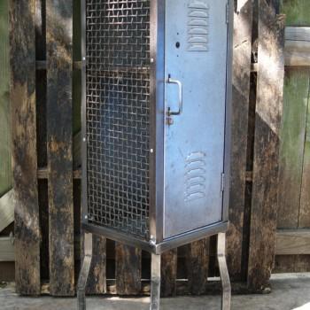 Vintage Industrial School Locker Cabinet