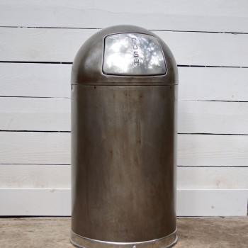 Vintage Style Steel Dome Top Trash Can