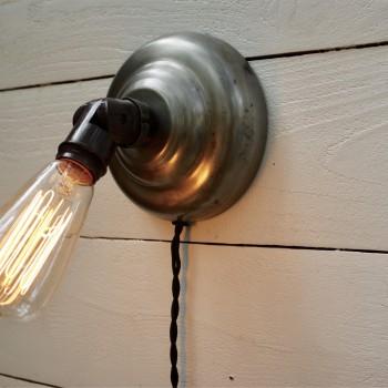 "Vintage ""Plug-in"" Wall Sconce with Adjustable Socket"
