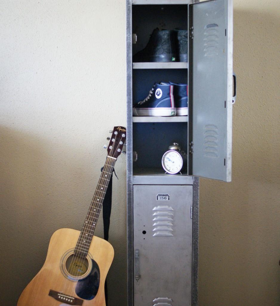Vintage Riveted Bare Steel Locker