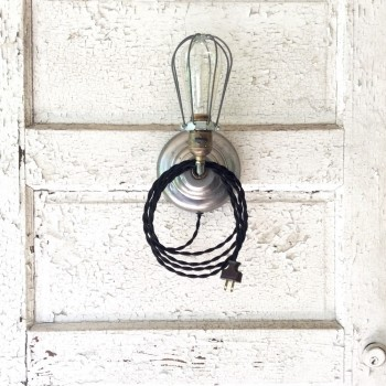 "Vintage Industrial ""Plug-in"" Wall Sconce"